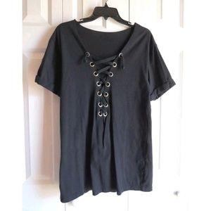 LF Lace Up Shirt Dress